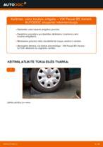 Kaip pakeisti VW Passat B5 Variant dyzelis vairo traukės antgalio - keitimo instrukcija