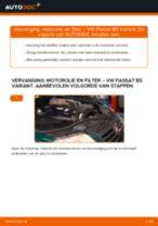 Hoe motorolie en filter vervangen bij een VW Passat B5 Variant diesel – Leidraad voor bij het vervangen