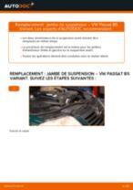 Comment changer : jambe de suspension avant sur VW Passat B5 Variant diesel - Guide de remplacement