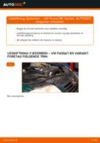 Trin-for-trin PDF-tutorial om VW Sharan 1 Støddæmper skift