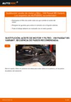 Instalación Filtro aceite VW PASSAT Variant (3B6) - tutorial paso a paso