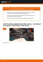 Come cambiare ammortizzatore a molla della parte anteriore su VW Passat B5 Variant diesel - Guida alla sostituzione
