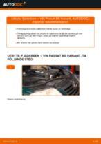 Byta fjäderben fram på VW Passat B5 Variant diesel – utbytesguide
