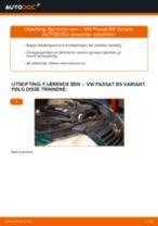 Hvordan bytte Støtdempere bak og foran VW PASSAT Variant (3B6) - guide online