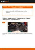 Ako vymeniť motorové oleje a filtre na VW Passat B5 Variant diesel – návod na výmenu