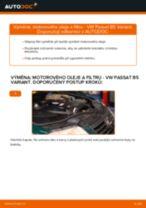 Jak vyměnit motorový olej a olejový filtr na VW Passat B5 Variant diesel – návod k výměně