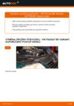 Jak vyměnit přední pružiny podvozku na VW Passat B5 Variant diesel – návod k výměně