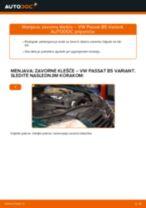 Kako zamenjati avtodel zavorne klešče spredaj na avtu VW Passat B5 Variant diesel – vodnik menjave