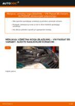 Zamenjavo Blažilnik VW PASSAT: brezplačen pdf