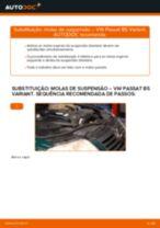 Como mudar molas de suspensão da parte dianteira em VW Passat B5 Variant diesel - guia de substituição