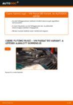 Hogyan cseréje és állítsuk be Spirálrugó VW PASSAT: pdf útmutató