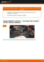Kā nomainīt: priekšas bremžu suportu VW Passat B5 Variant dīzelis - nomaiņas ceļvedis