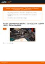 Kā nomainīt: priekšas amortizatora statni VW Passat B5 Variant dīzelis - nomaiņas ceļvedis