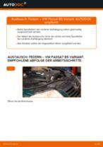 Wie Fahrwerksfedern VW PASSAT wechseln und einstellen: PDF-Leitfaden