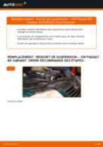 Comment changer : ressort de suspension avant sur VW Passat B5 Variant diesel - Guide de remplacement