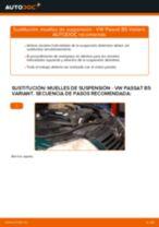 Cómo cambiar: muelles de suspensión de la parte delantera - VW Passat B5 Variant diésel | Guía de sustitución