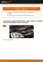 Wie Opel Corsa C Diesel Kraftstofffilter wechseln - Schritt für Schritt Anleitung