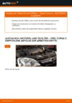 Wechseln von Getriebehalter Instruktion PDF für OPEL CORSA