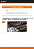 Comment changer : huile moteur et filtre huile sur Opel Corsa C diesel - Guide de remplacement