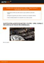 Cómo cambiar: aceite y filtro - Opel Corsa C diésel | Guía de sustitución