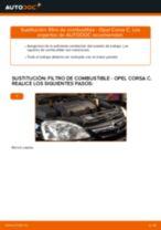 Cómo cambiar: filtro de combustible - Opel Corsa C diésel | Guía de sustitución