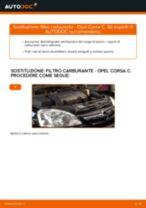 Come cambiare filtro carburante su Opel Corsa C diesel - Guida alla sostituzione