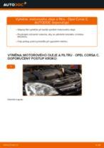 Jak vyměnit motorový olej a olejový filtr na Opel Corsa C diesel – návod k výměně