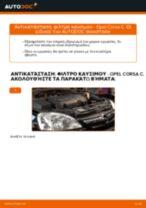 Οι συστάσεις του μηχανικού αυτοκινήτου για την αντικατάσταση OPEL Opel Corsa D 1.2 (L08, L68) Φίλτρο καυσίμων