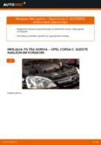 Kako zamenjati avtodel filter goriva na avtu Opel Corsa C diesel – vodnik menjave