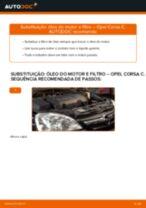 Como mudar óleo do motor e filtro em Opel Corsa C diesel - guia de substituição