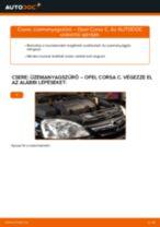Hogyan cseréljünk benzin Üzemanyagszűrő OPEL CORSA C (F08, F68) - kézikönyv online