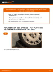 How to carry out replacement: Springs on 1.2 60 Fiat Punto 188