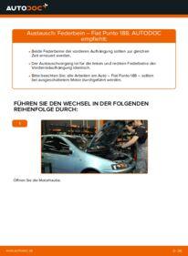 Wie der Wechsel durchführt wird: Stoßdämpfer 1.2 60 Fiat Punto 188 tauschen