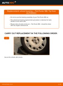 How to carry out replacement: Wheel Bearing on 1.2 60 Fiat Punto 188
