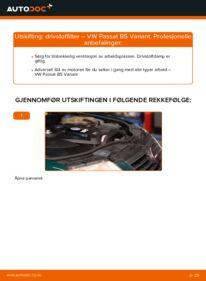 Slik bytter du Drivstoffilter på VW PASSAT