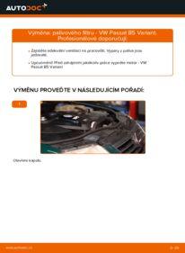 Jak provést výměnu: Palivový filtr na 1.9 TDI Passat 3B6