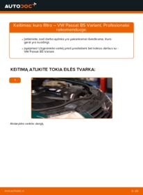 Kaip atlikti keitimą: 1.9 TDI Passat 3B6 Kuro filtras