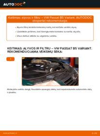 Kaip atlikti keitimą: 1.9 TDI Passat 3B6 Alyvos filtras