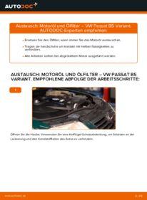 Wie der Wechsel durchführt wird: Ölfilter 1.9 TDI Passat 3B6 tauschen