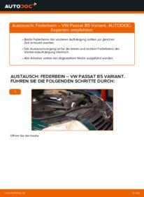 Wie der Wechsel durchführt wird: Stoßdämpfer 1.9 TDI Passat 3B6 tauschen