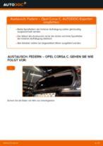 Wie Opel Corsa C Diesel Federn hinten wechseln - Schritt für Schritt Anleitung