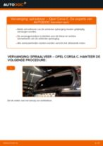 Hoe spiraalveer achteraan vervangen bij een Opel Corsa C diesel – vervangingshandleiding