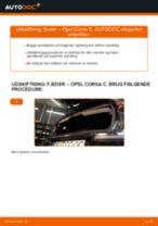 Udskift fjeder bag - Opel Corsa C diesel   Brugeranvisning