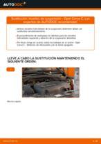 Instalación Resortes de suspension OPEL CORSA C (F08, F68) - tutorial paso a paso