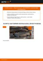 OPEL CORSA C (F08, F68) Öljynsuodatin asennus - vaihe vaiheelta korjausohjeet