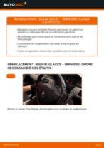 arrière et avant Essuie-glaces BMW 3 Berline (E90) | PDF tutoriel de remplacement