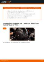 Udskift viskerblade for - BMW E90 diesel   Brugeranvisning