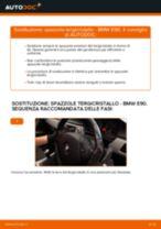 Come cambiare spazzole tergicristallo della parte anteriore su BMW E90 diesel - Guida alla sostituzione