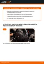 Skifte Vindusviskere BMW 3 SERIES: verkstedhåndbok