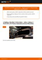 Jak vyměnit zadní pružiny podvozku na Opel Corsa C diesel – návod k výměně